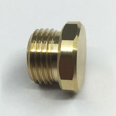 China Hex Bolt Brass Turned Parts Machining Center Brass Precision Turned Components factory